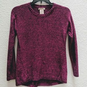 Philosophy royal magenta & black sweater. Sz M